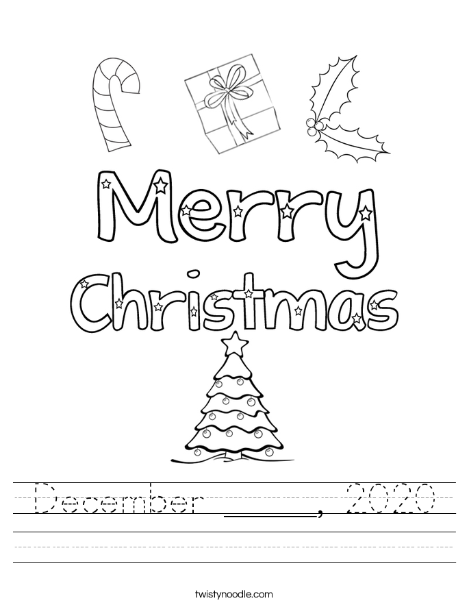 December _____, 2020 Worksheet