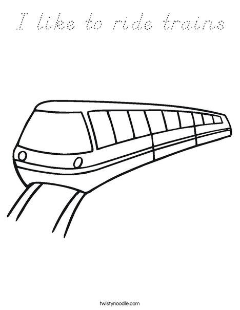 Metro Coloring Page