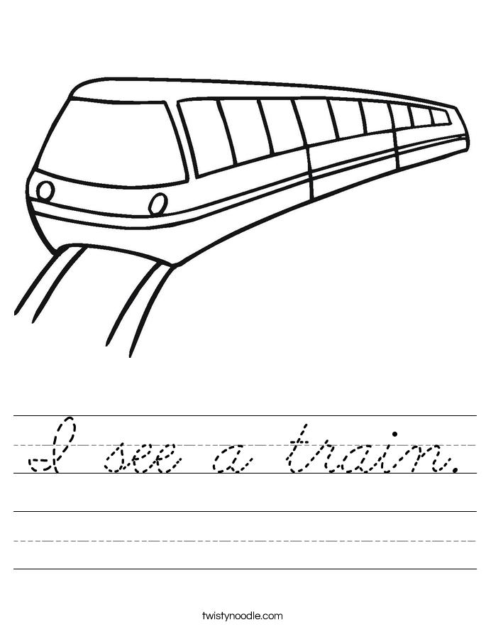 I see a train. Worksheet