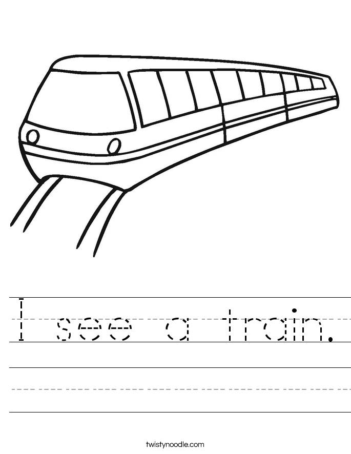 I see a train. Worksheet