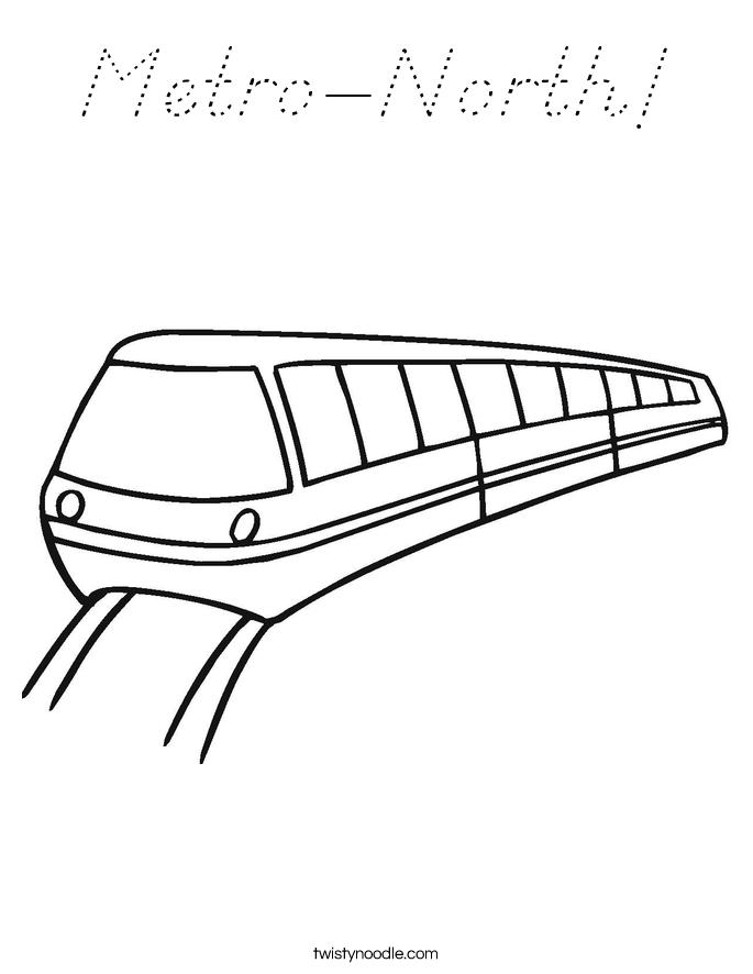 Metro-North! Coloring Page