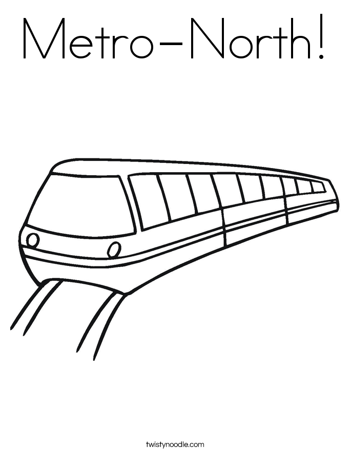 Metro-North! Coloring Page