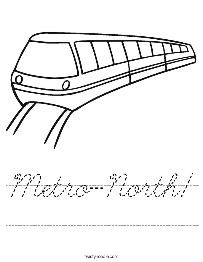 Metro-North! Worksheet
