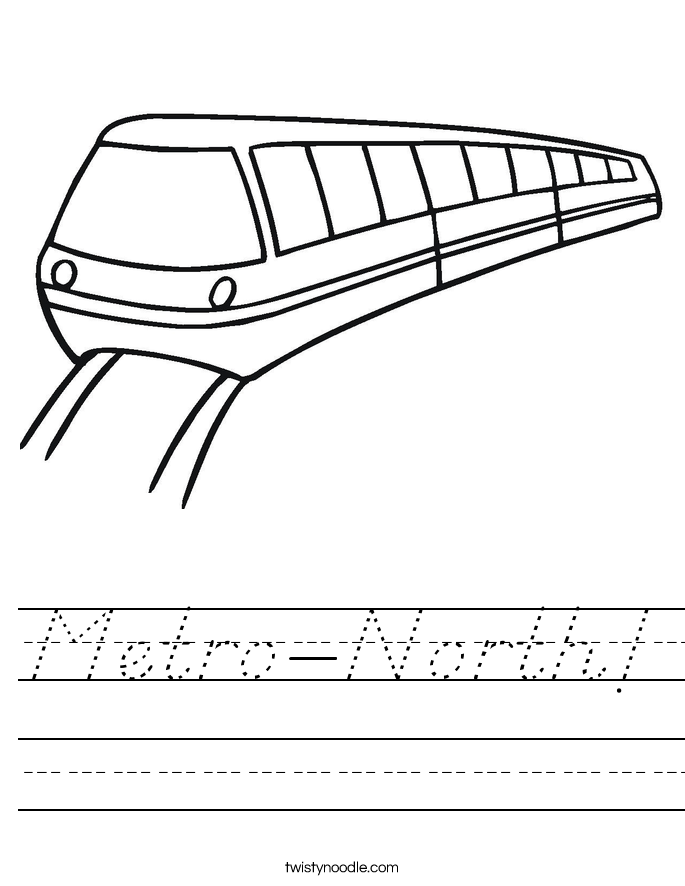 Metro-North! Worksheet