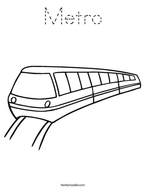 Metro Coloring Page
