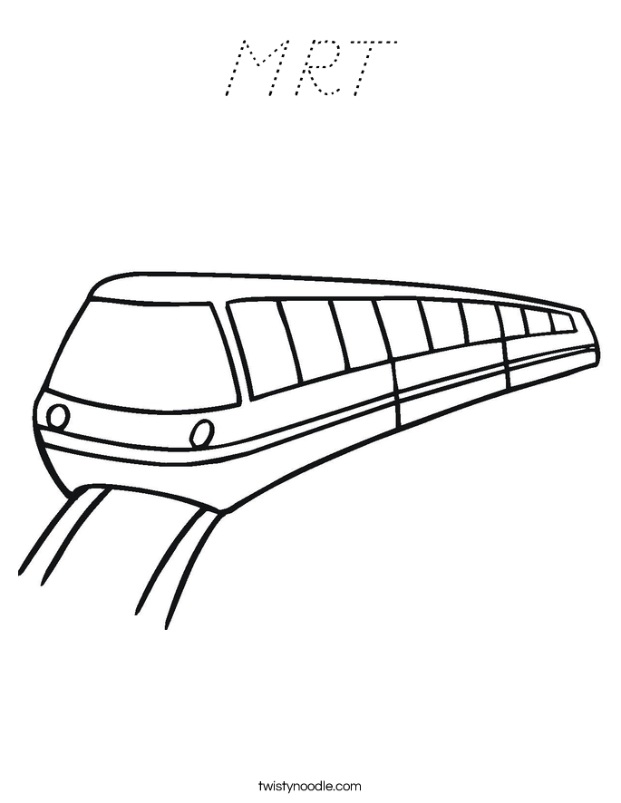 MRT Coloring Page