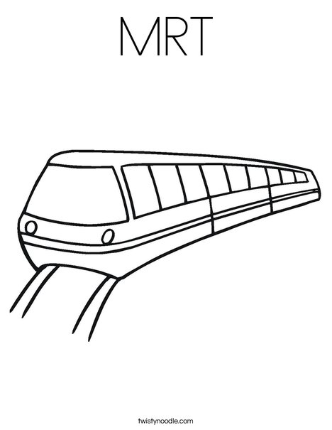 MRT Coloring Page - Twisty Noodle