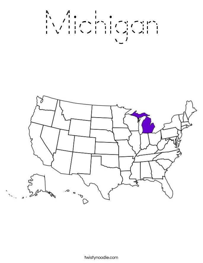 Michigan Coloring Page