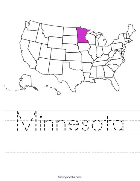 Minnesota Worksheet