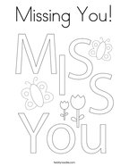 Missing You Coloring Page