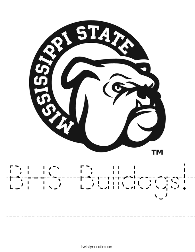 BHS Bulldogs! Worksheet