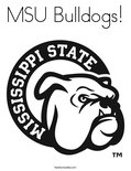 MSU Bulldogs! Coloring Page