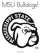 MSU Bulldogs Coloring Page