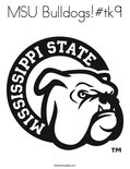 MSU Bulldogs!#tk9 Coloring Page