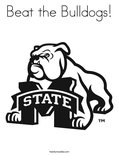 Beat the Bulldogs! Coloring Page