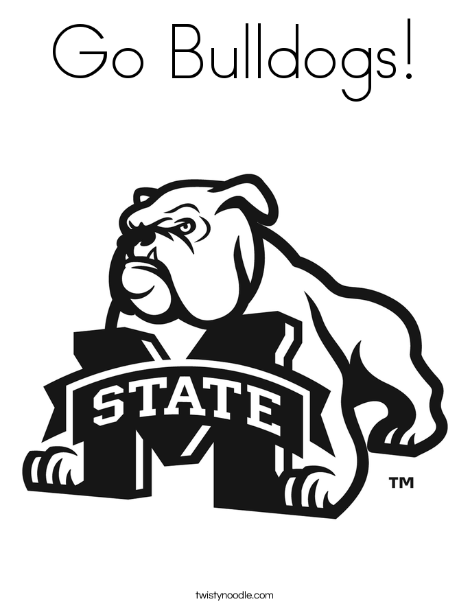 Go bulldogs coloring page twisty noodle Broncos Logo Coloring Pages Boise State Logo Coloring Pages Michigan Football Coloring Pages