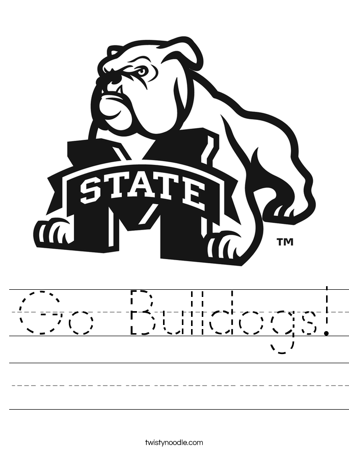 Go Bulldogs! Worksheet