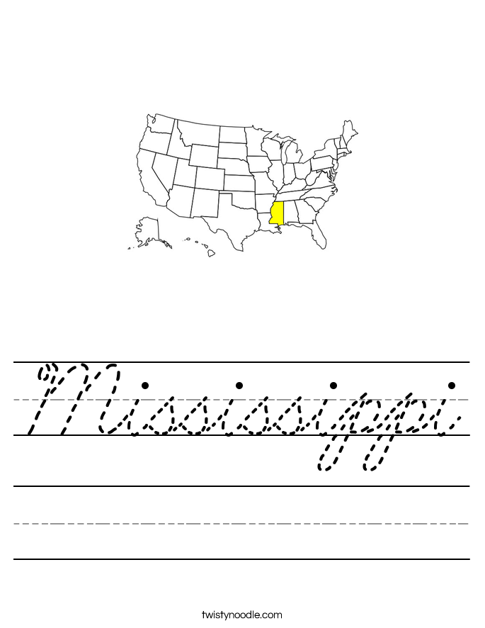 Mississippi Worksheet