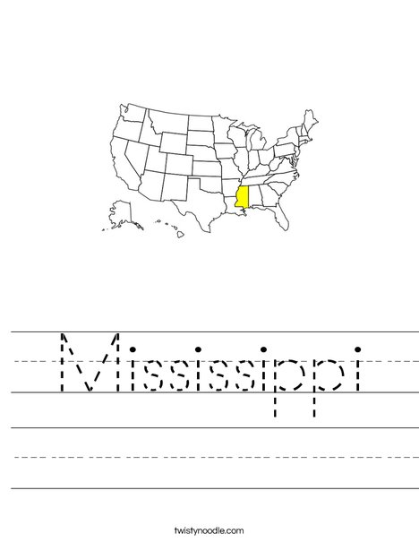 Mississippi Worksheet