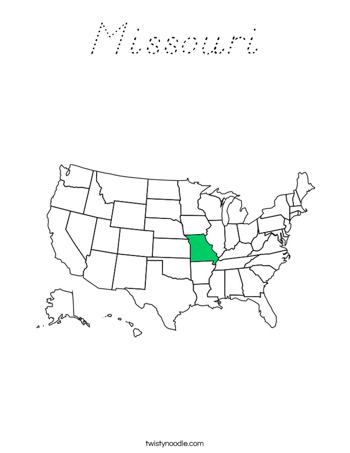 Missouri Coloring Page