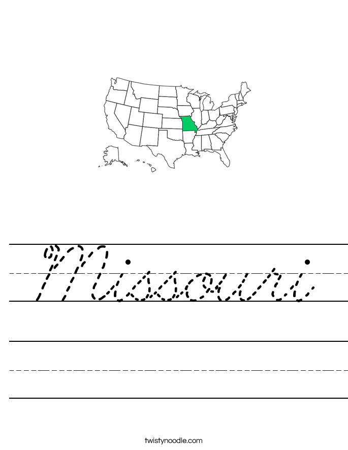 Missouri Worksheet