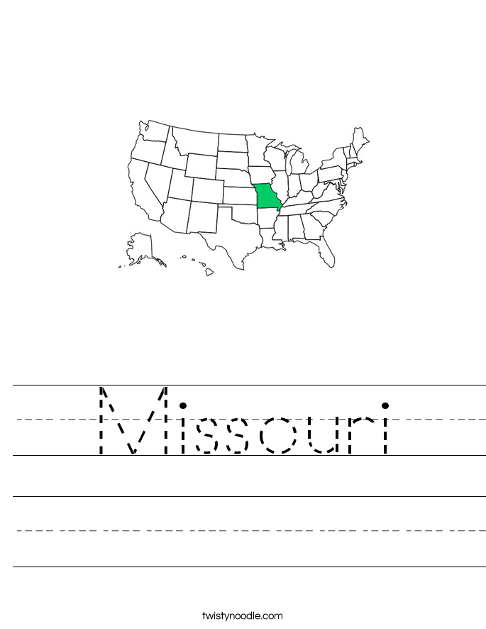 Missouri Worksheet