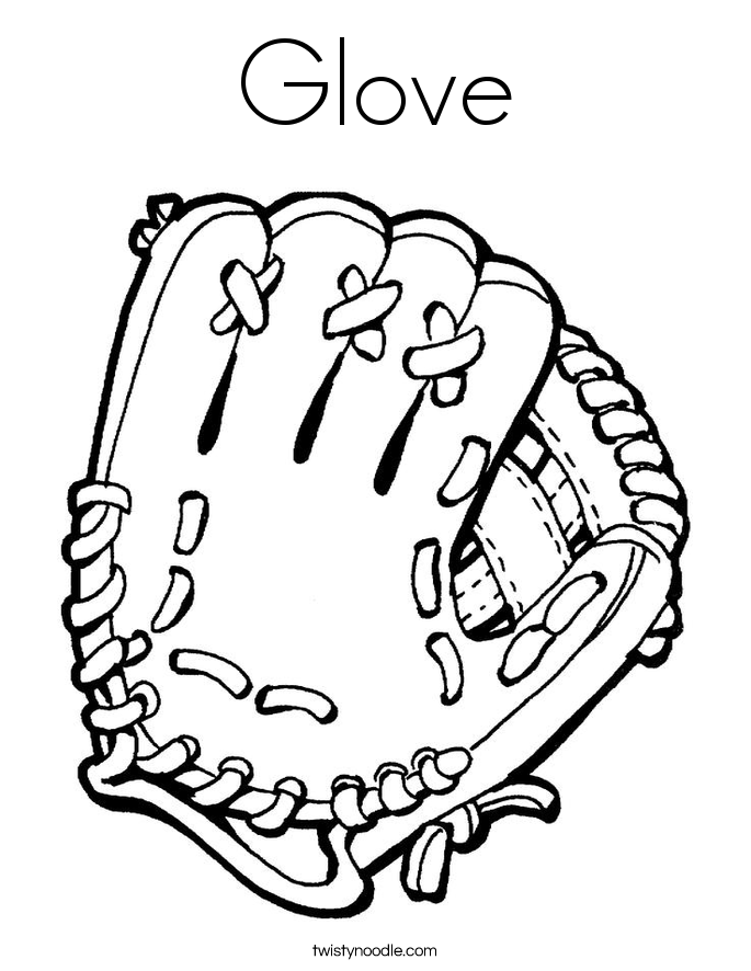Glove Coloring Page
