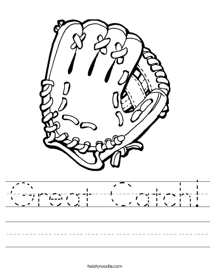 Great Catch! Worksheet