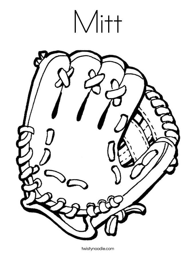 Mitt Coloring Page