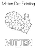 Mitten Dot Painting Coloring Page