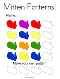 Mitten Patterns! Coloring Page