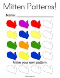 Mitten Patterns Coloring Page