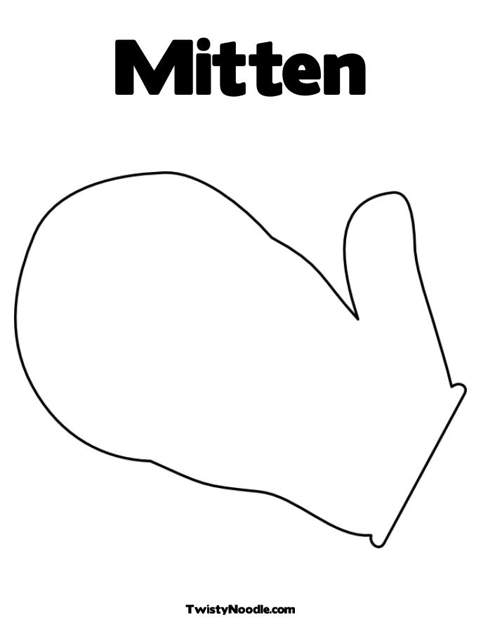 mitten coloring pages printable - mitten coloring page