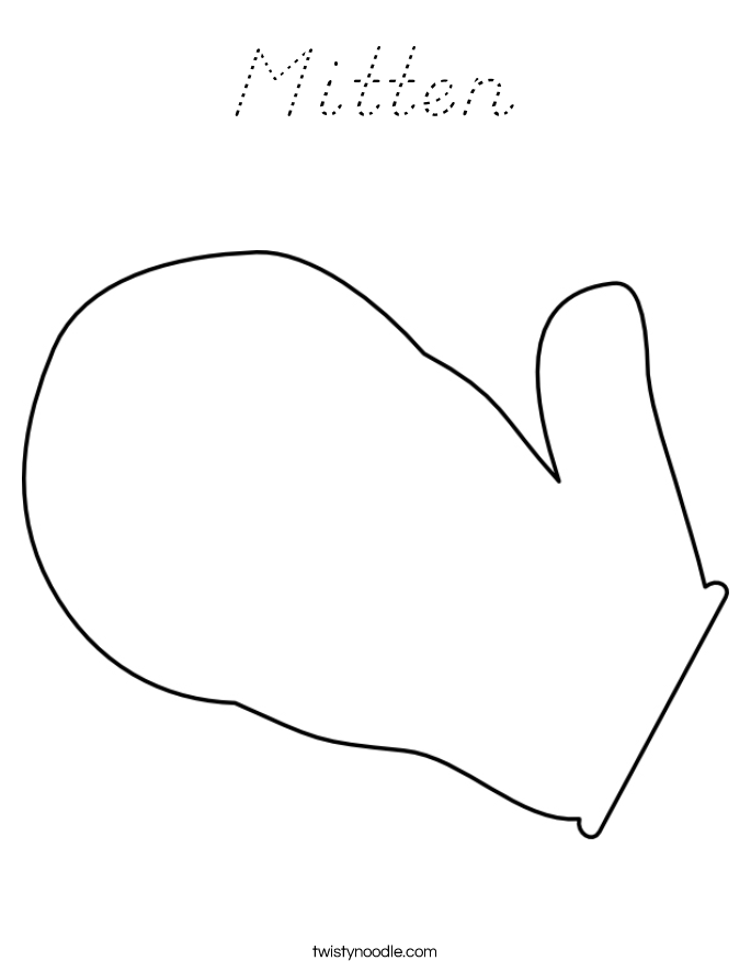 Mitten Coloring New Calendar Template Site Mitten Coloring Pages Printable