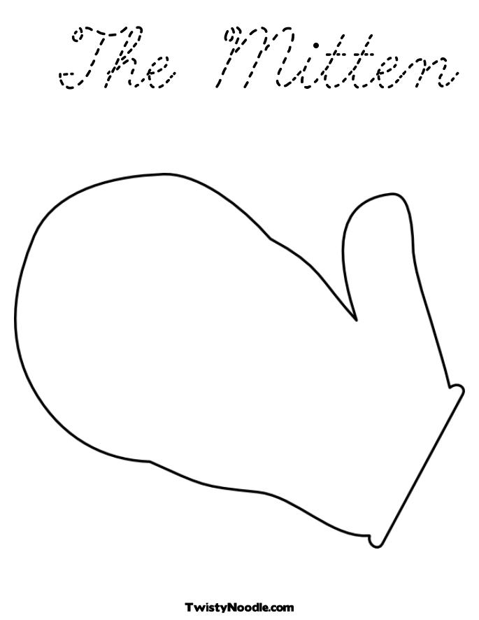 the mitten coloring pages - photo#8