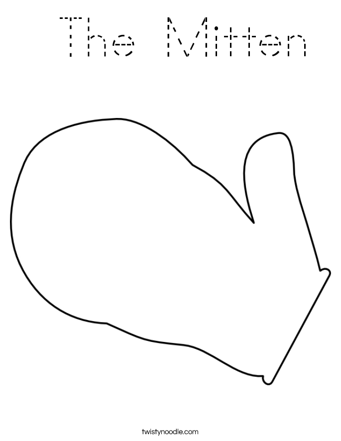 Mitten Coloring New Calendar Template Site Printable Mitten Coloring Page