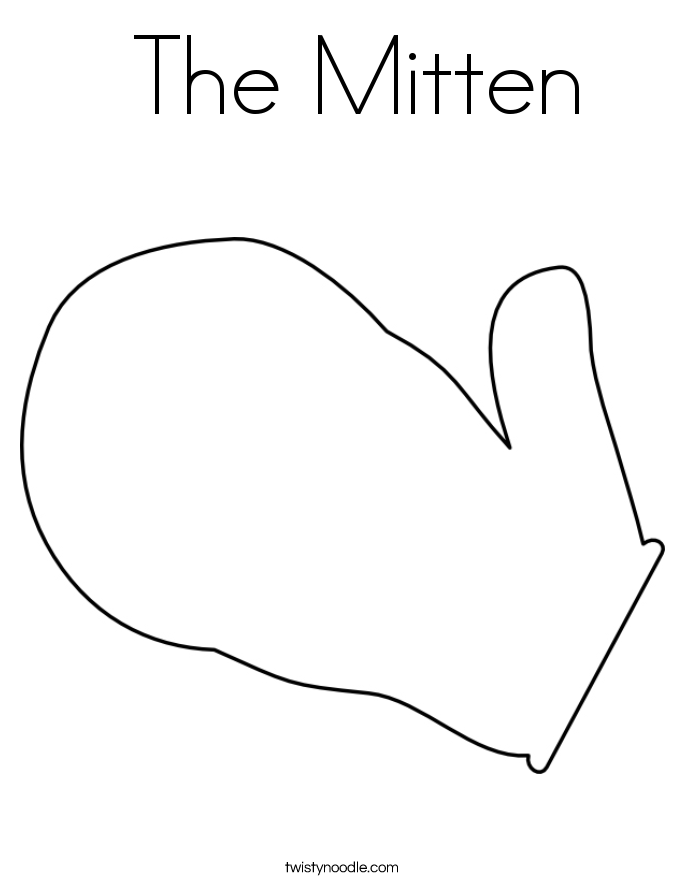Winter Mitten Template Search Results Calendar 2015 The Mitten Coloring Page