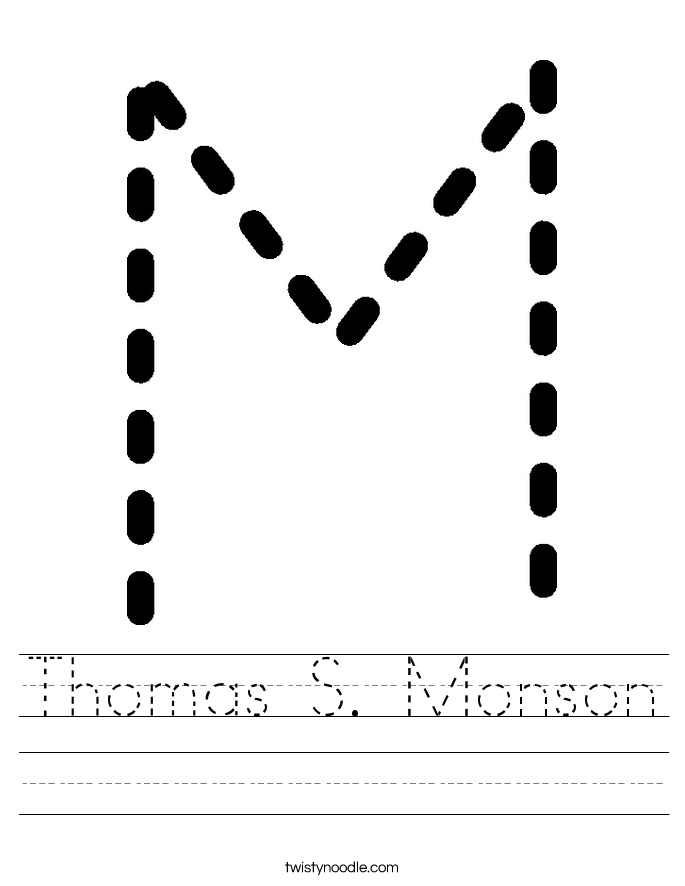coloring page of thomas s monson - thomas s monson worksheet twisty noodle