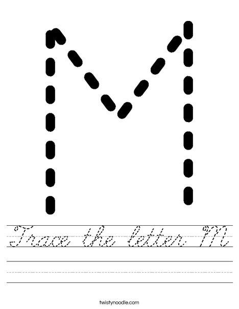Tracing Letter M Worksheet