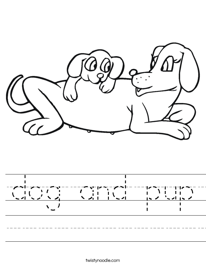 dog and pup Worksheet