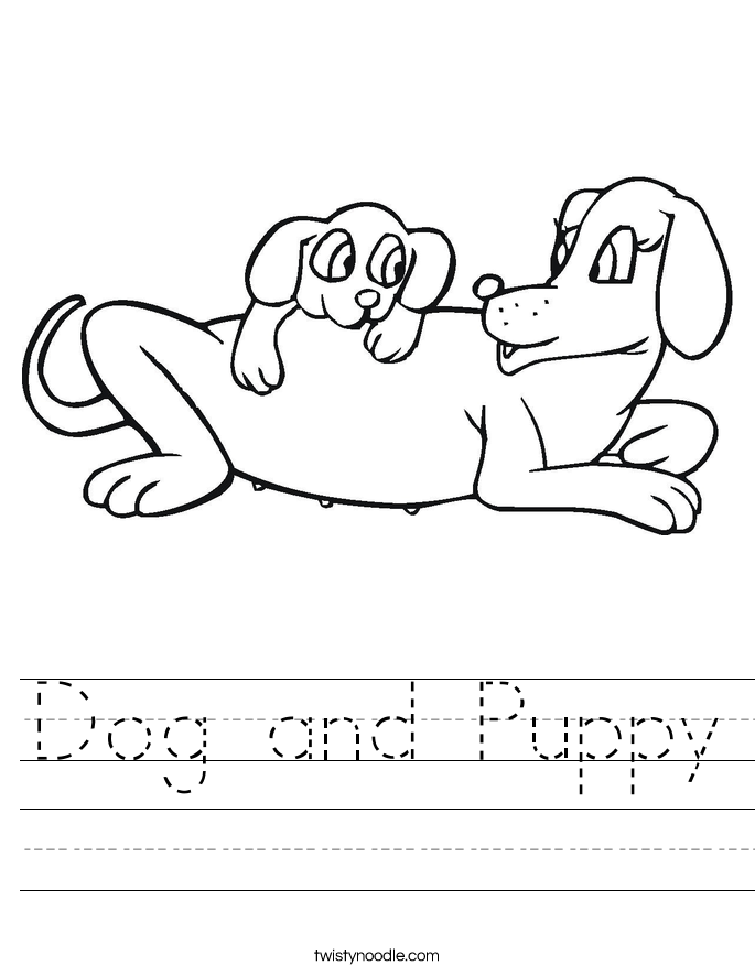 Dog and Puppy Worksheet