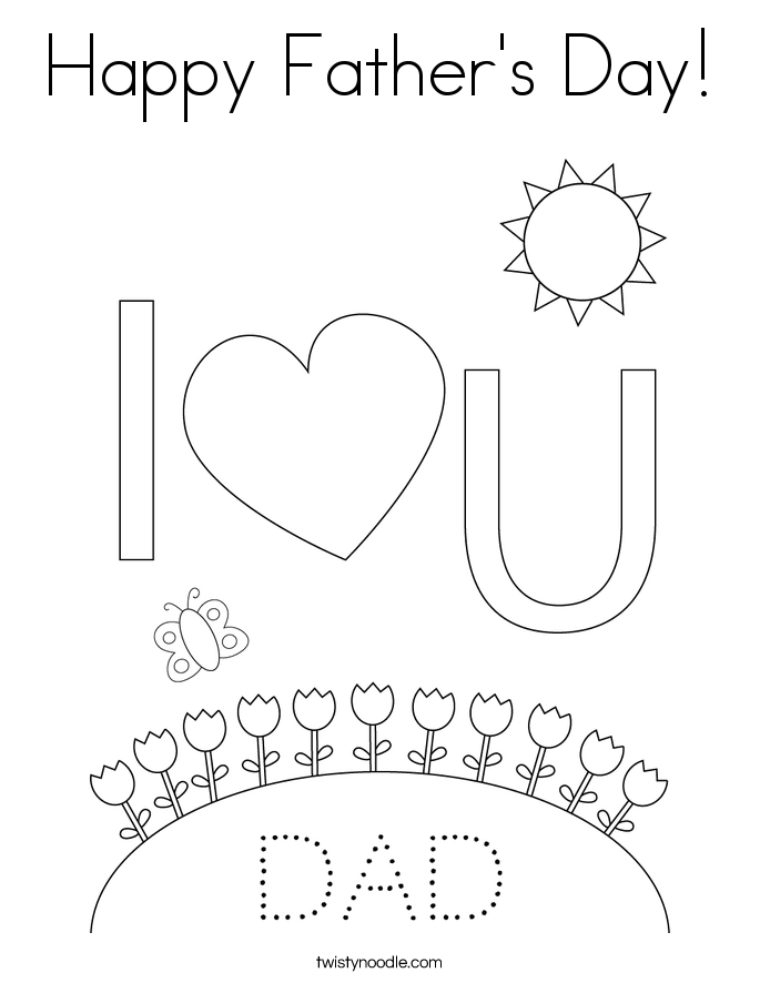 Happy Father's Day! Coloring Page