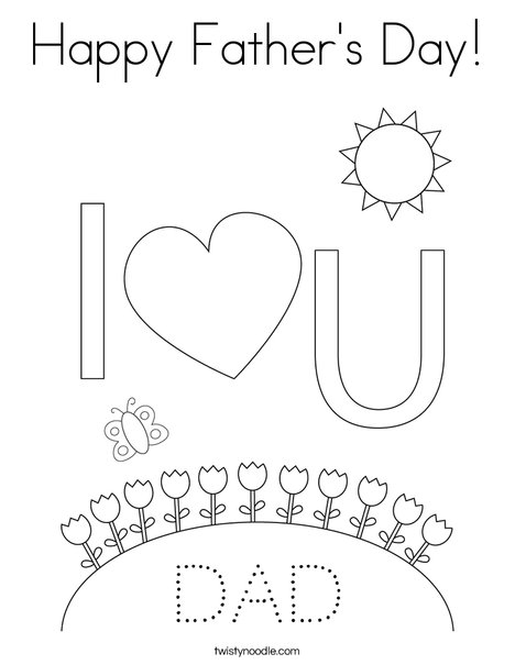 Mom and Dad Coloring Page