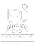 Happy Father's Day Handwriting Sheet