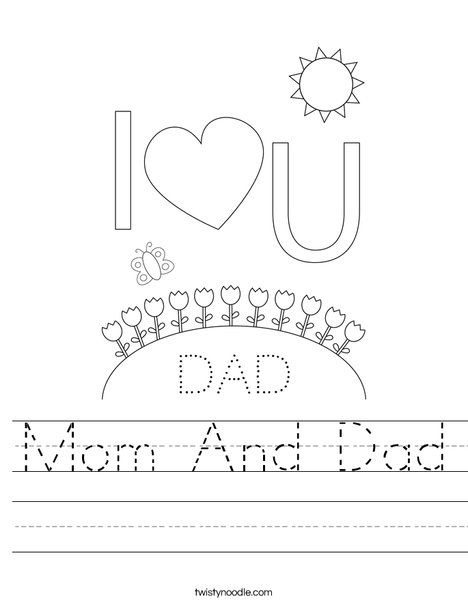 Printables Dads Worksheets mom and dad worksheet twisty noodle worksheet