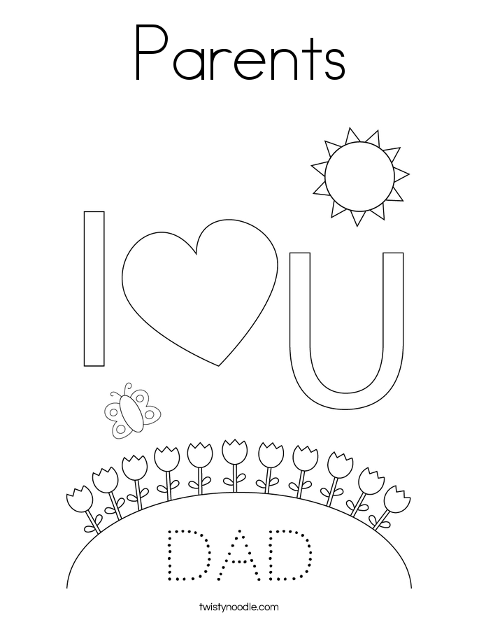 Parents Coloring Page