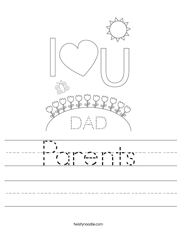 Parents Worksheet