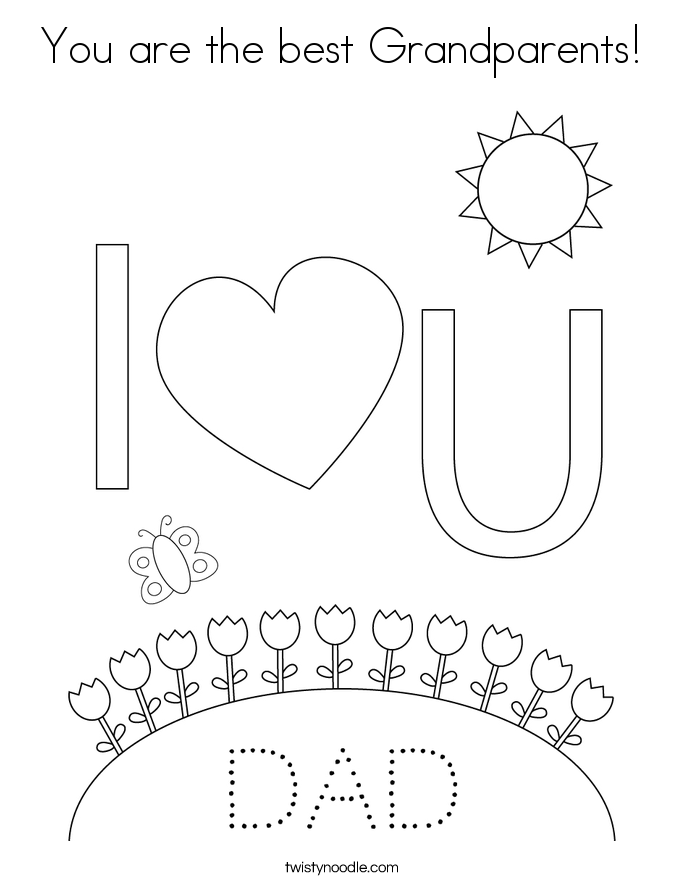 You are the best Grandparents! Coloring Page