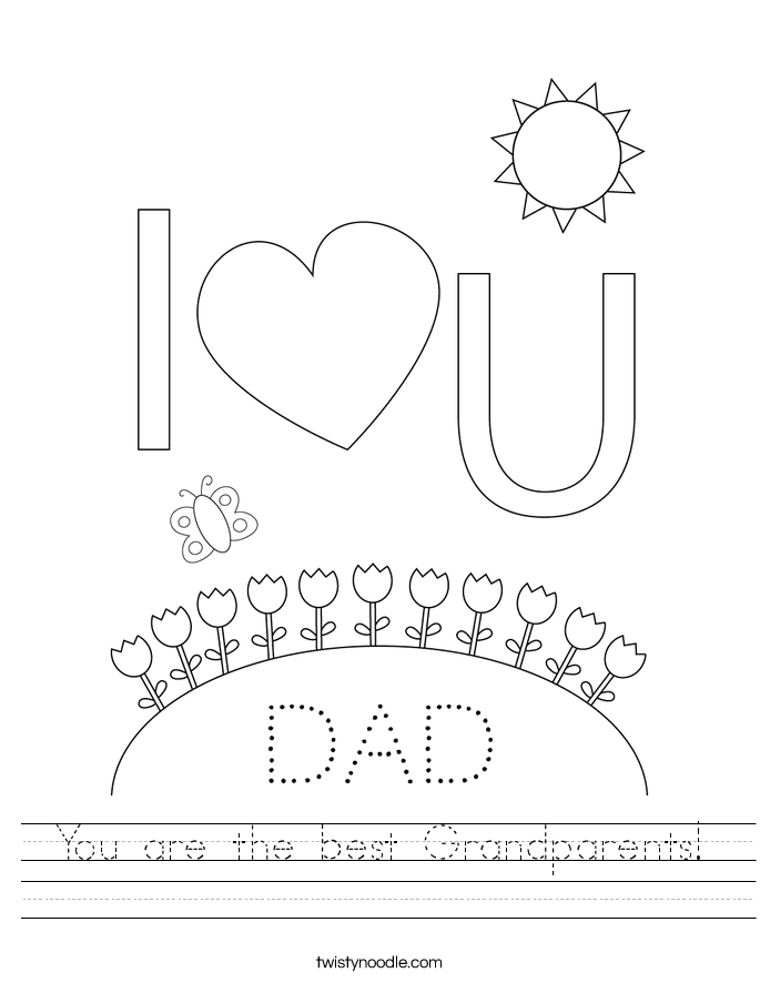 You are the best Grandparents! Worksheet