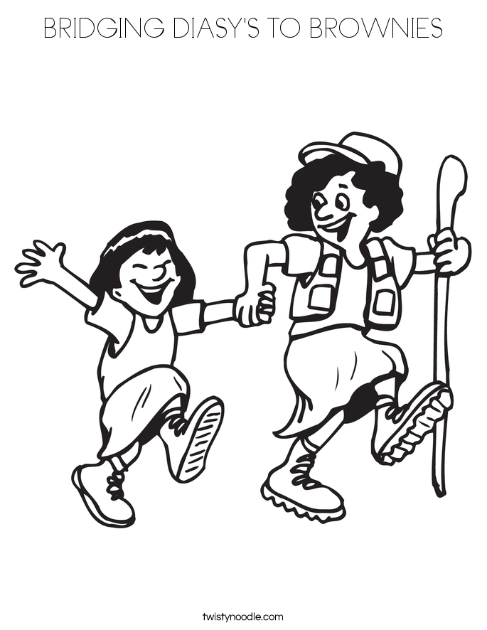 BRIDGING DIASY'S TO BROWNIES Coloring Page
